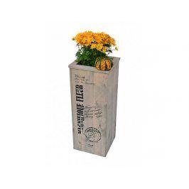 Květináč s nápisem, 80 cm