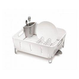 Odkapávač na nádobí Simplehuman – Compact, bílý plast