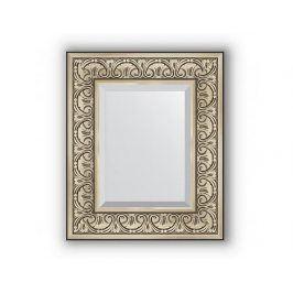 Zrcadlo s fazetou, stříbrný barokní ornament