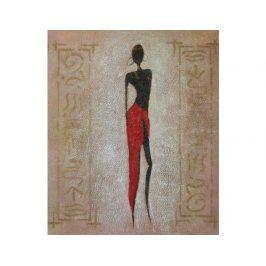 Obraz - Modelka v čevené sukni 1