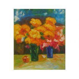 Obraz - Oranžovo červené květy