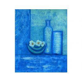 Obraz - Modré lahve