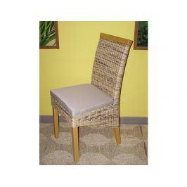 Ratanová jídelní židle Memphis-borovice