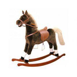 Houpací kůň plyš, velký, tmavěhnědý