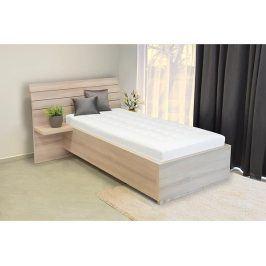 Jednolůžková postel se zaobleným čelem Salina