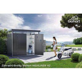 Zahradní domek HIGHLINE H2 s dvoukřídlými dveřmi