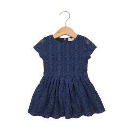 Šaty dívčí krajkové modrá 104/110