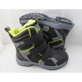 obuv zimní 3 pásky zelená 34