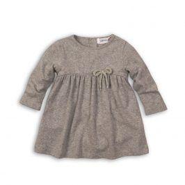 Šaty dívčí s mašlí šedá 68/74