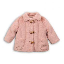Kabát zimní kojenecký chlupatý růžová 74/80