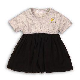 Šaty dívčí s dlouhým rukávem černá 92/98