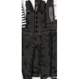 Kalhoty dívčí laclové černá 86/92