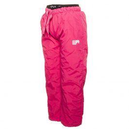kalhoty sportovní s fleezem outdoorové růžová 86
