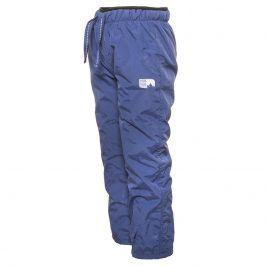 kalhoty sportovní s fleezem outdoorové modrá 92