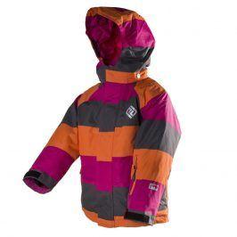 bunda dětská zimní nepromokavá holka 140