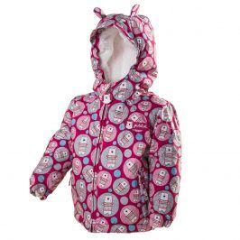 bunda zimní s kožíškem růžová 92