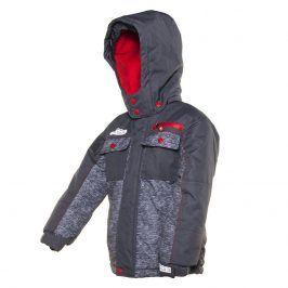 bunda zimní chlapecká šedá 140
