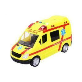 Záchranka, žluté auto s efekty