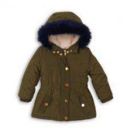 Kabát dívčí Parka podšitý chlupem holka 122/128