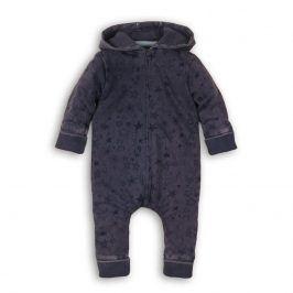 Overal kojenecký s kapucí modrá 56/62