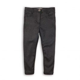 Kalhoty dívčí třpytivé s elastenem šedá 122/128