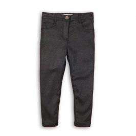 Kalhoty dívčí třpytivé s elastenem šedá 140/146