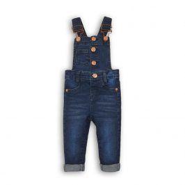 Kalhoty dívčí džínové s laclem modrá 110/116