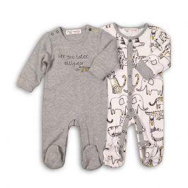 Overal kojenecký bavlněný šedá 68