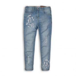 Kalhoty dívčí džínové s elastenem modrá 110/116