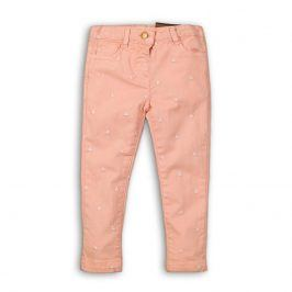 Kalhoty dívčí s elastenem růžová 98/104