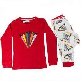 Pyžamo dívčí červená 104/110