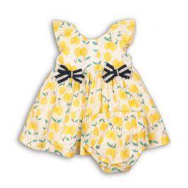 Šaty dívčí s kalhotkami žlutá 68/74