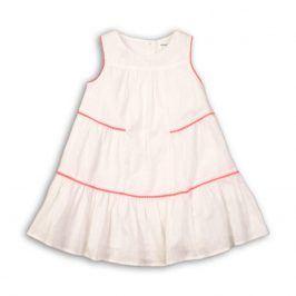 Šaty dívčí bavlněné bílá 116/122