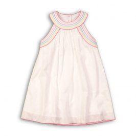 Šaty dívčí bavlněné bílá 98/104