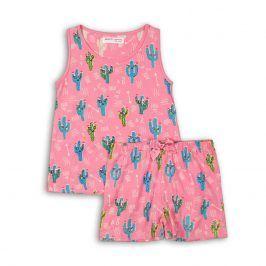 Pyžamo dívčí: kraťasy růžová 140/146