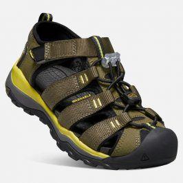 Dětské sandály NEWPORT NEO H2 JR, dark olive/celery khaki 36