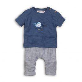 Kojenecký set: tričko a kalhoty modrá 56/62