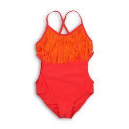 Plavky dívčí jednodílné červená 152/158