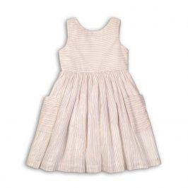 Šaty dívčí bavlněné bílá 104/110