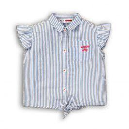 Košile dívčí na zavazování modrá 104/110