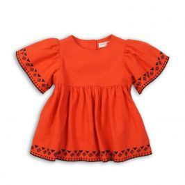 Tunika dívčí bavlněná oranžová 68/80