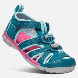 Dětské sandály SEACAMP II CNX JR, deep lagoon/bright pink tyrkysová 32/33