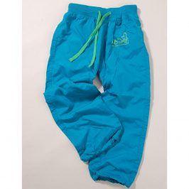 kalhoty sportovní tyrkysová 140
