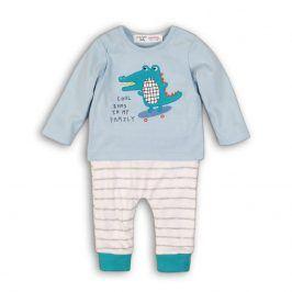 Kojenecký set bavlněný, tričko a kalhoty světle modrá 68/74