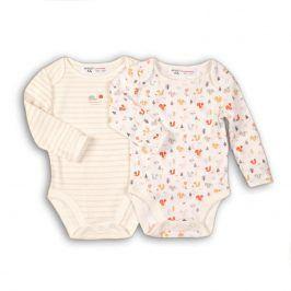 Body kojenecké 2pack bílá 50