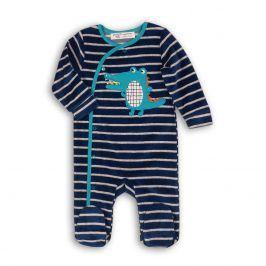 Overal kojenecký sametový tmavě modrá 68/74