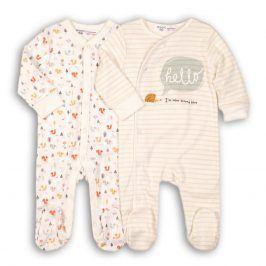 Overal kojenecký bavlněný 2pack bílá 68