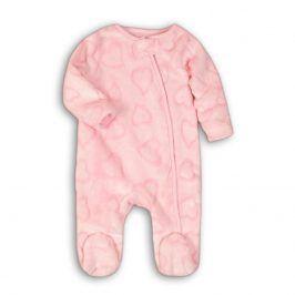 Overal kojenecký fleezový růžová 56/62