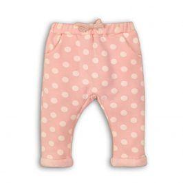 Kalhoty dívčí fleezové vyteplené růžová 74/80