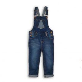 Kalhoty dívčí džínové a laclem modrá 122/128